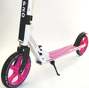 Самокат двухколесный складной Maraton Fox Pro Детский алюминиевый розовый Колеса 20 см