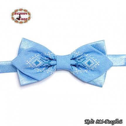 Фигурная голубая вышитая бабочка Стиль, фото 2