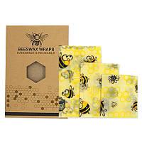 Набор восковых салфеток Beeswax Wraps 3 шт, фото 1