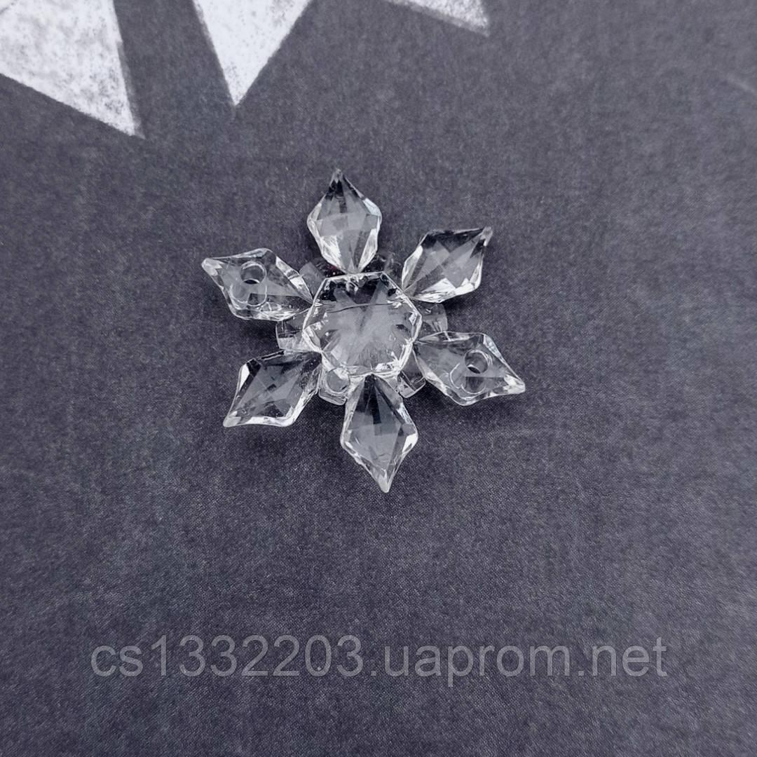 """Декор """"сніжинка"""" 4,5см"""