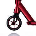 Трюковый самокат с пегами для прыжков Crosser GHOST Самокат для трюков 110 мм красный, фото 6