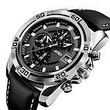 Мужские спортивные кварцевые часы Skmei Avalon Black 9156, фото 2