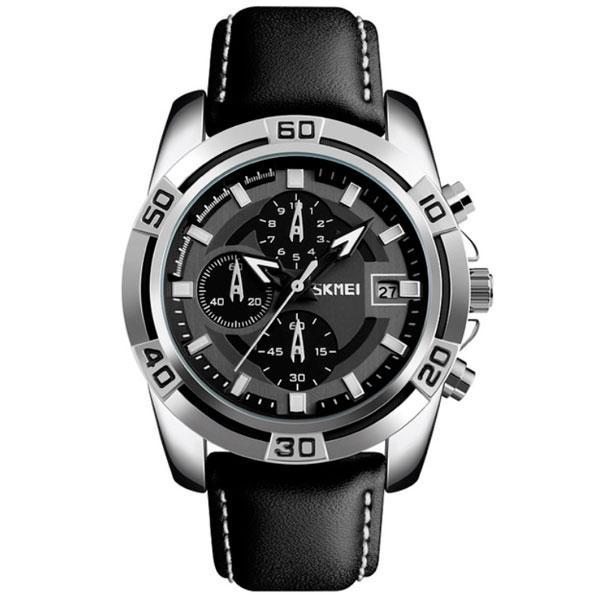 Мужские спортивные кварцевые часы Skmei Avalon Black 9156