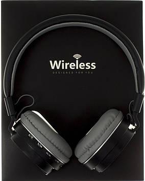Навушники AZ-10 (bluetooth+stereo+mp3-player+гарнітура) black безпровідні