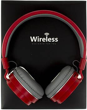 Навушники AZ-10 (bluetooth+stereo+mp3 player+гарнітура) red безпровідні