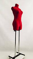 Венера ровная в ткани (красный) к подставке, фото 2