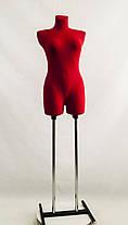 Венера ровная в ткани (красный) к подставке, фото 3
