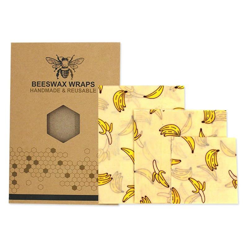Набор восковых салфеток Beeswax Wraps 3 шт