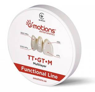 Циркониевый диск TT-GT-M Funcional 3D-мультилеер Ø 98мм для CAD/CAM систем, Emotions (Эмоушенз)