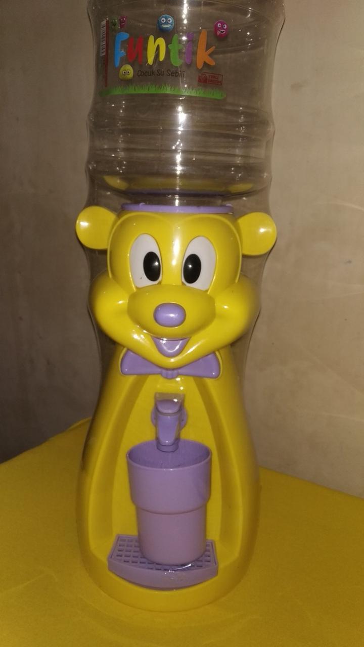 Кулер детский/Диспенсер для воды Микки Маус 2,5 л.желтый