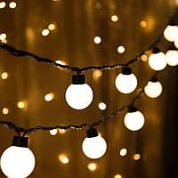 Ретро Гирлянда Оптом 5 м,20 LED, 220В, Светлодиодная Гирлянда Белт Лайт, Шарики, FS-1799-65