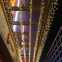 Гирлянда Бахрома Оптом 12x0,6 метра 360 LED, 60 нитей, 220В, IP55, Золото, FS-1793-65
