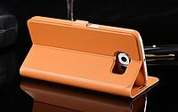 Коричневая книжечка для Samsung Galaxy S6, фото 1