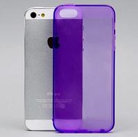 Фиолетовый силиконовый чехол на iphone 5/5s с заглушками , фото 1