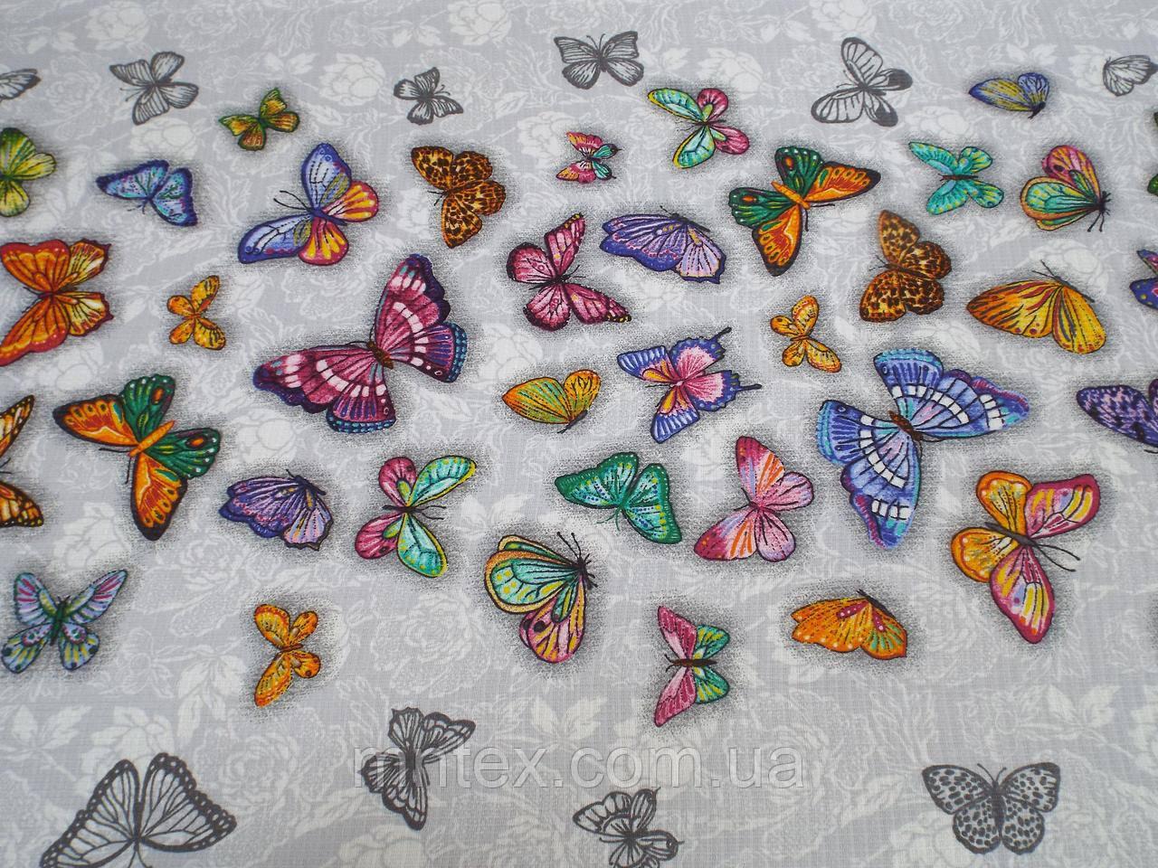 Тканина Вафельна Ширина 50 см. Метелики