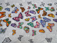 Тканина Вафельна Ширина 50 см. Метелики , фото 1