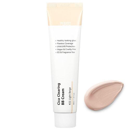ББ крем для чувствительной кожи #21 Светлый беж PURITO Cica Clearing BB Cream 30 мл  #21 Light Beige