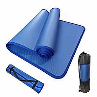 Коврик для йоги и фитнеса Yoga mat 1810*610*10 мм голубой каучук VIP