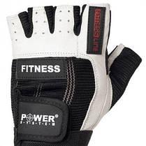 Перчатки для фитнеса и тяжелой атлетики Power System Fitness PS-2300 Black-White S SKL24-145458, фото 3