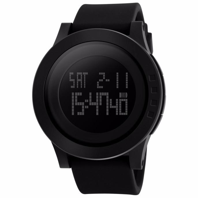 Skmei 1142 ultra чорні чоловічі спортивні годинник
