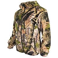 Флисовая мужская камуфляжная кофта с капюшоном расцветка дубок