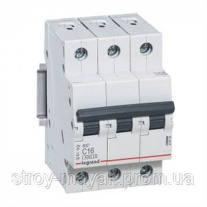 """Автоматичний вимикач Legrand RX3, 4.5 кА, 16A, 3Р, """"С"""""""
