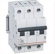 """Автоматический выключатель Legrand RX3, 4.5кA, 32A, 3Р, """"С"""""""
