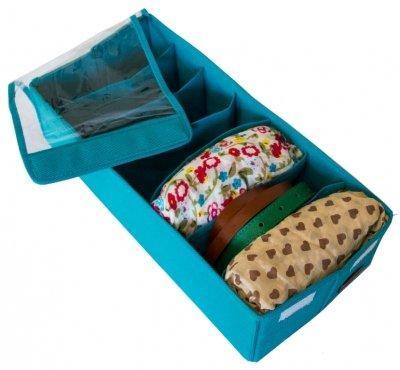 Коробочка для носков, колгот, ремней с крышкой Organize лазурь Lzr-Nsk-KrSKL34-176190