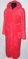 Халат женский махровый длинный большого размера 0120
