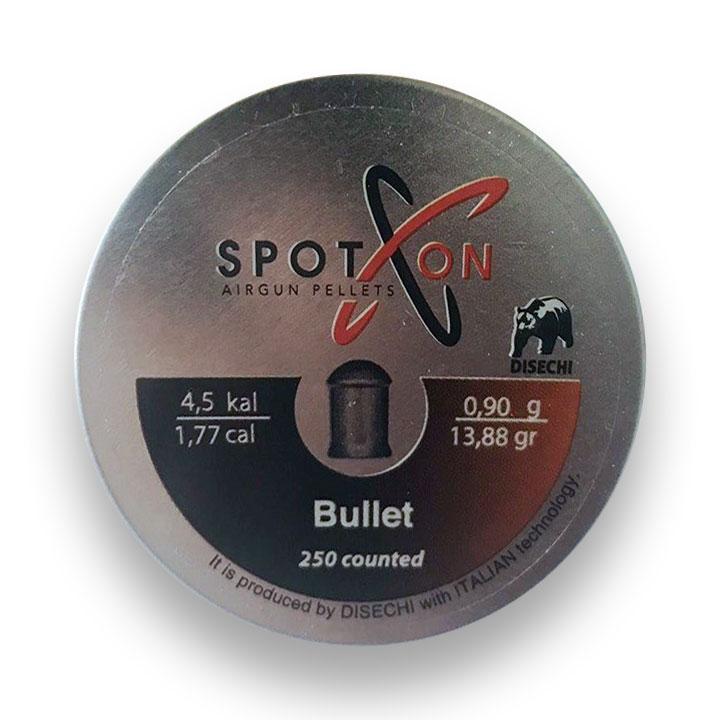 Пули для пневматики Spoton Bullet 0.90 гр (250 шт) магнум 4.5 мм