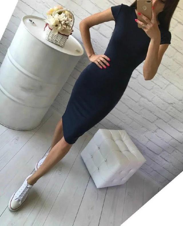 демісезонне сукня з коротким рукавом