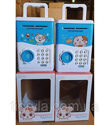 Дитячий сейф з відбитком  скарбничка для дитини, фото 2
