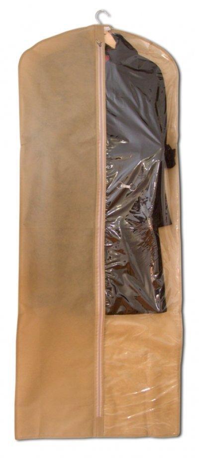 Чехол, кофр для одежды 60х150 см Organize бежевый HCh-150 SKL34-176331
