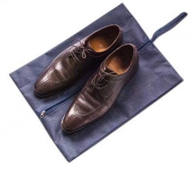 Объемная сумка-пыльник для обуви на молнии Organize синий HO-02 SKL34-176344