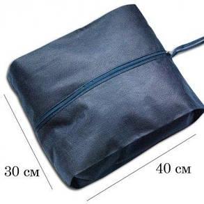 Объемная сумка-пыльник для обуви на молнии Organize синий HO-02 SKL34-176344, фото 2