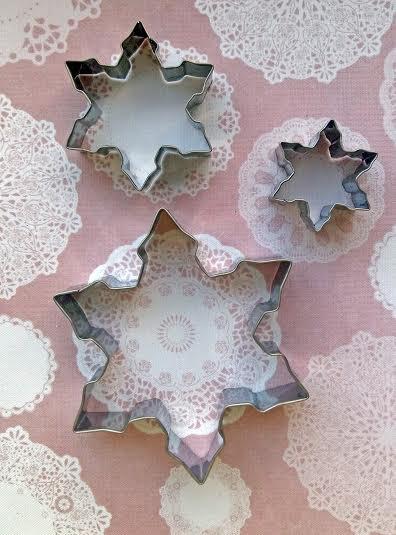 """Каттер """"Три снежинки"""" для вырезки фигур из глины,полимерных масс,мастики,для кулинарии"""
