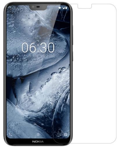 Гидрогелевая защитная пленка на Nokia X6 на весь экран прозрачная
