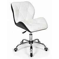 Офисное кресло операторское для персонала, кресло для офиса компьютерное черно белое, стулья офисные