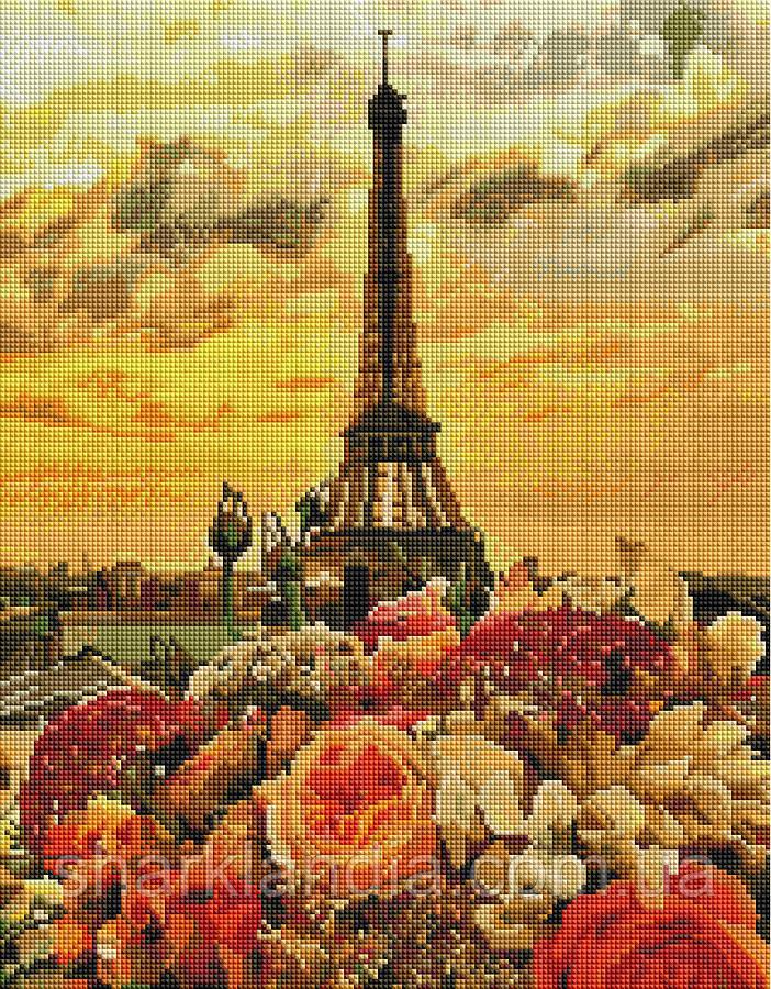 Прекрасный Париж Алмазная мозаика