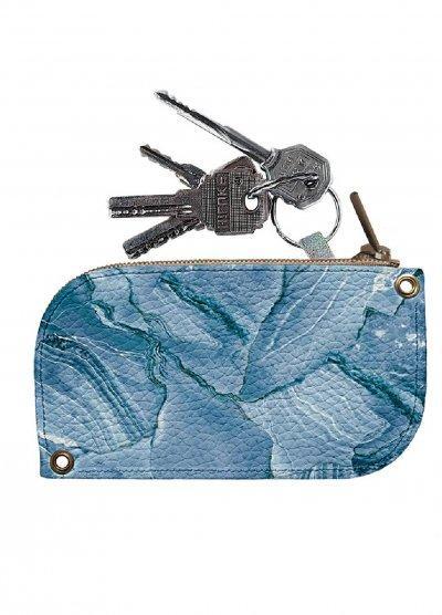 Ключница DM 01 Мрамор голубой синяя SKL47-176586