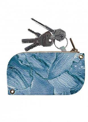 Ключница DM 01 Мрамор голубой синяя SKL47-176586, фото 2