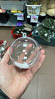 Шар пластиковый прозрачный для декора, 8 см без дефекта