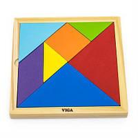 Игра-головоломка Viga Toys Цветной деревянный танграм, 7 эл. (55557)