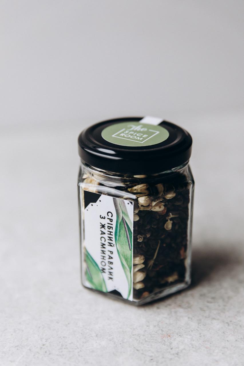 Чай зеленый Серебряная улитка с жасмином, 55 г / стекло
