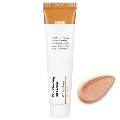 ББ крем для чувствительной кожи #27 Песочный беж PURITO Cica Clearing BB Cream 30 мл