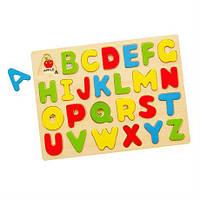 Деревянный пазл Viga Toys Английский алфавит, заглавные буквы (58543), фото 1