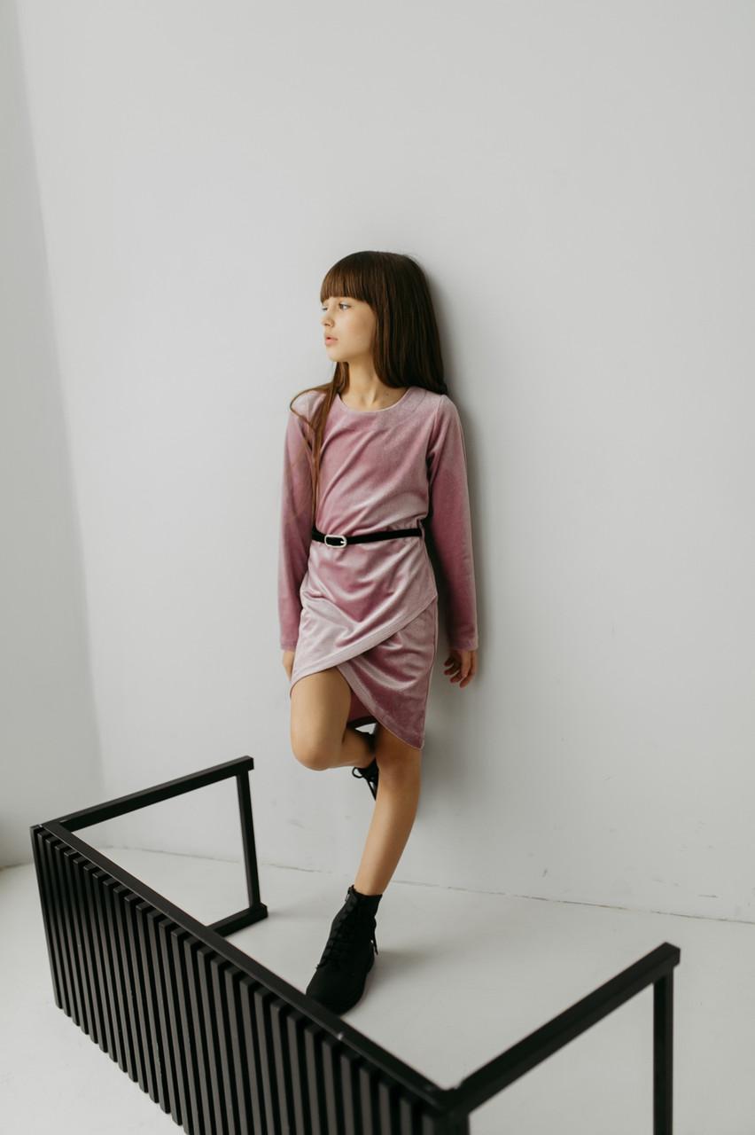 {есть:128,134} Платье велюровое для девочек,  Артикул: MC1955 [134]