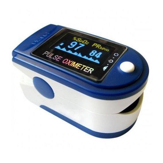 Пульсоксиметр для измерения уровня кислорода в крови, пульса  CMC 50C с цветным дисплеем.