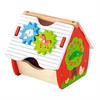 Деревянный сортер Viga Toys Веселый домик (50533), фото 1