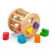Деревянный сортер Viga Toys Цилиндр с фигурами (54123), фото 1
